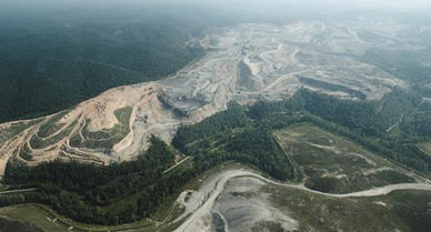Mountain top mine