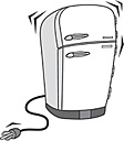 Unplugged refrigerator